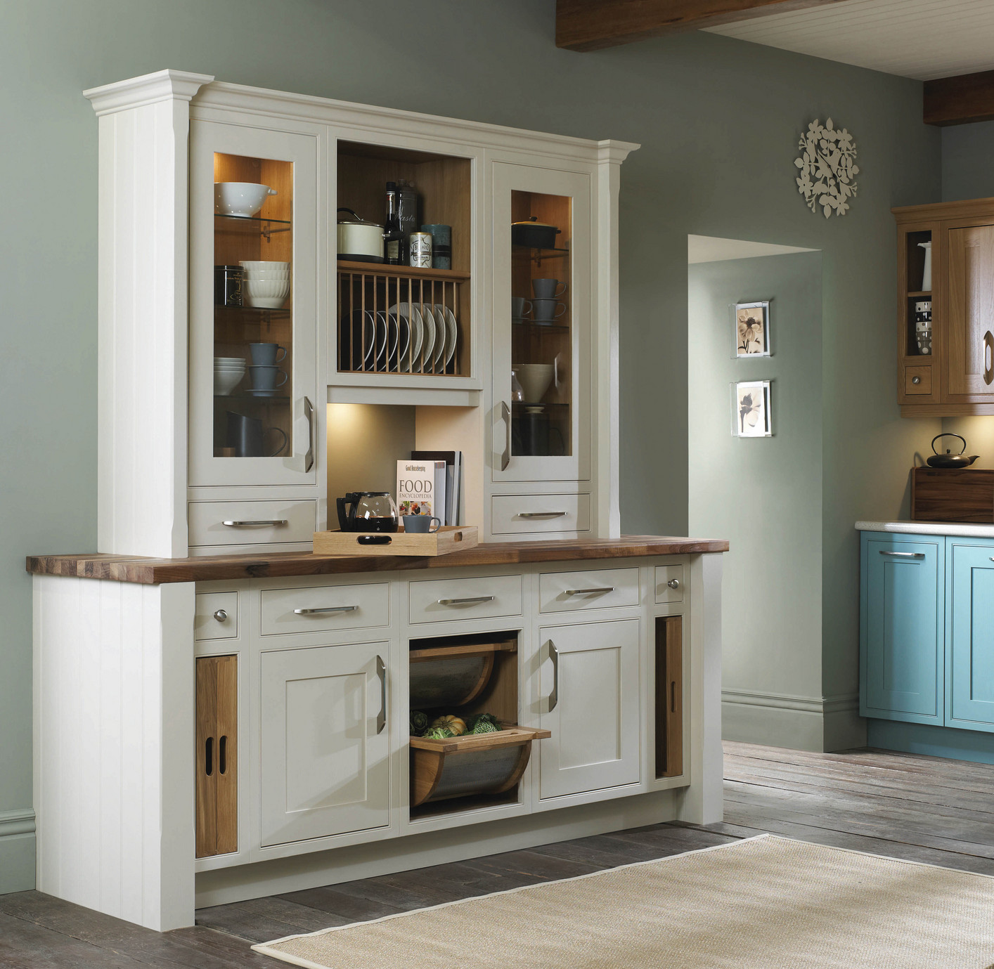 English revival period kitchen designs with a style for for Fitted kitchen dresser unit